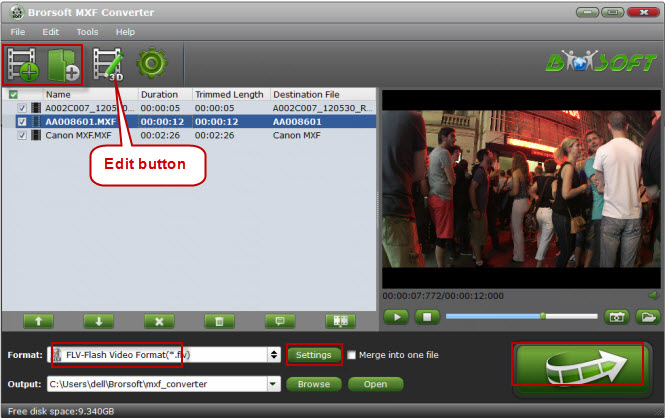 Brorsoft MXF Converter Screenshot