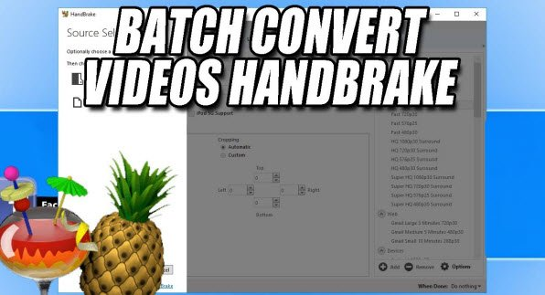 How to Batch Convert Videos with Handbrake